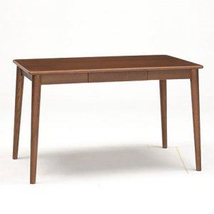 サライ 4人掛ダイニングテーブル(ブラウン色 幅115奥行70高さ70)