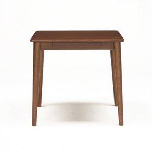 サライ 2人掛ダイニングテーブル(ブラウン色 幅75奥行70高さ70)