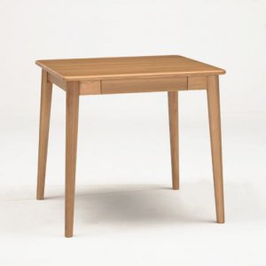 サライ 2人掛ダイニングテーブル(ナチュラル色 幅75奥行70高さ70)