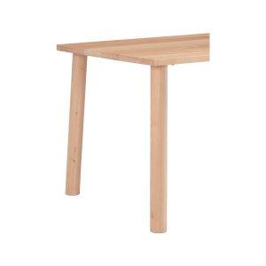 楓の森メープル材 テーブル丸脚/2本組(ナチュラル色 テーブル高72cm)