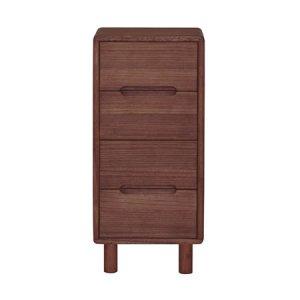 桐無垢 天然木オイル塗装 ミドルチェスト(ブラウン色/幅36x高さ80)