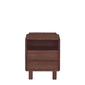 桐無垢 天然木オイル塗装 ナイトテーブル(ブラウン色/幅40x高さ50)