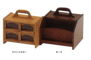 薬箱(1日用)(ライトイエロー/オーク 幅20.5x奥行21x高さ15)