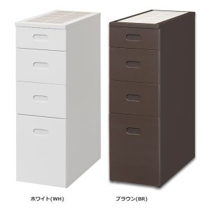 キッチン隙間ストッカー スリム26(幅26奥行55高さ80cm)