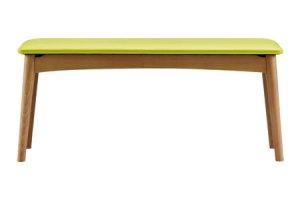 ボスコプラス ルンダ ビーチ材ダイニングベンチ ライトブラウン 合板座面(幅94奥行34高さ43/46)
