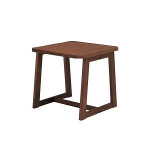 コーナーテーブル/雅UNB(浮造り仕上 幅60x奥行60x高さ55)