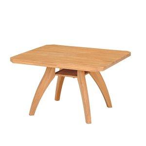 低いダイニングテーブル/雅UH.OAK(浮造り仕上 幅110x奥行110x高さ66)
