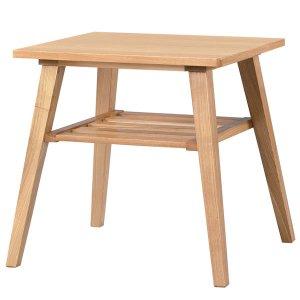 サイドテーブル高さ49/天然木アッシュ突板(幅50x奥行44)