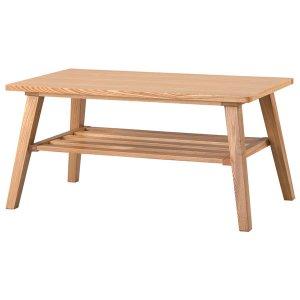 コーヒーテーブル高さ39/天然木アッシュ突板(幅80x奥行44)