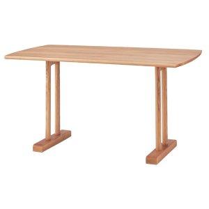 低めダイニングテーブル(幅120奥行75高さ68cm)/タモ突板/F★★★★(ナチュラル)