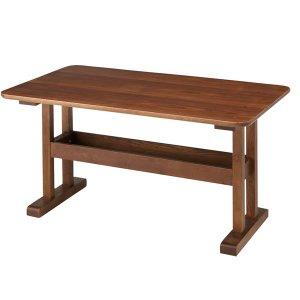 リビングダイニング兼用テーブル(幅130奥行75高さ64cm)/天然木アッシュ突板/F★★★★(ブラウン)