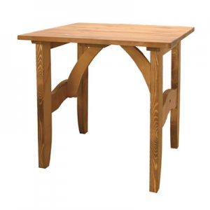 カントリー調天然木パインオイル仕上/ダイニングテーブル2人掛(幅75奥75高さ70)