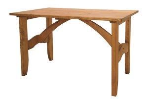 カントリー調天然木パインオイル仕上/ダイニングテーブル4人掛(幅120奥75高さ70)