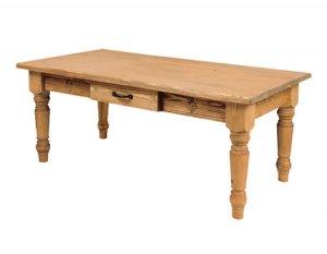 カントリー調天然木パインオイル仕上/センターテーブル/引出付(幅100奥50高さ40)