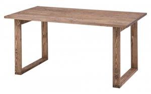 田舎カントリー風/ダイニングテーブル(天然木パイン 幅150奥行80高さ70cm)