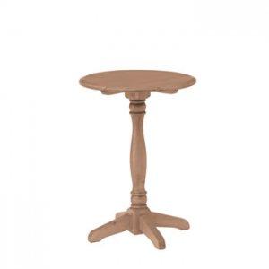 カントリー風天然木パイン/ラウンドサイドテーブル(1本)(幅38奥38高さ50)