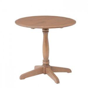 カントリー風天然木パイン/ラウンドテーブル(幅60奥60高さ55)