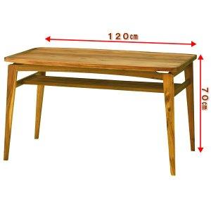 ヴァルト ダイニングテーブル4人掛(天然木アカシア 幅120奥80高さ70)