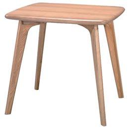 タモ(アッシュ)突板 ダイニングテーブル(2人用/幅80)