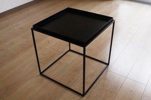 アイアン トレイテーブル(ブラック/幅40x奥行40x高さ41.2)