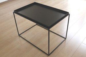 アイアン トレイテーブル(ブラック/幅60x奥行40x高さ41.2)