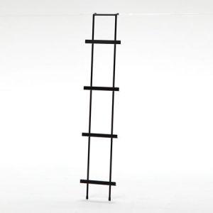 アイアン ウォールマガジンラック(ブラック/幅25x奥行8x高さ125)