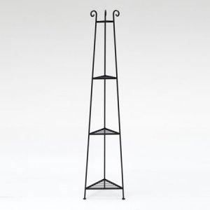 アイアン トライアングルラック(ブラック/幅33x奥行29.2x高さ146)