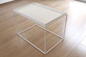 アイアン トレイテーブル(ホワイト/幅60x奥行40x高さ41.2)