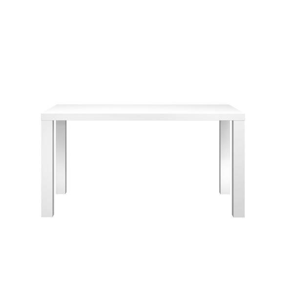ホワイト天板ダイニングテーブル140 スノーSNOW(幅140奥行80高さ73cm)