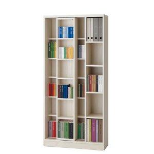 スライド書棚フナモコ(限定品)ACEシリーズ(ホワイトウッド 幅90奥行30高さ179.5)
