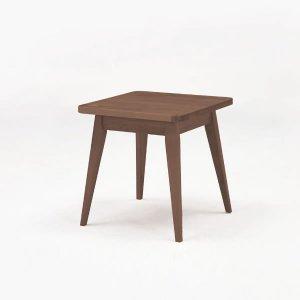 M's ブラウン/ナチュラル コーナーテーブル480 リビングダイニング(幅48x奥行48x高さ48.5cm)
