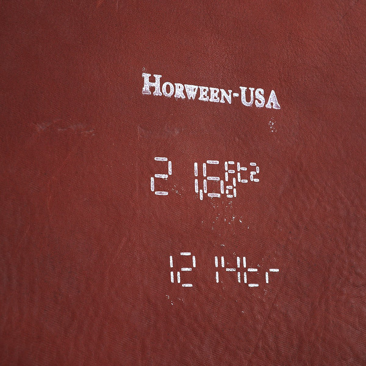 HORWEEN LEATHER COMPANY CALICO SUEDE RUST 詳細画像3
