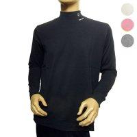 77000060 襟刺繍のシンプルハイネックTシャツ