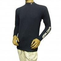 10000010 襟と袖にプリントのコンプレッション