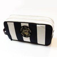 19177020 8号帆布のボーダーセカンドバッグ