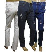 20125010 刺繍がいっぱいの5ポケットジーンズ