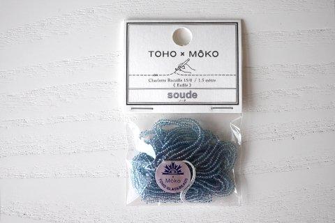 【TOHO×MOKO】シャーロットビーズ 15/0 ソーダ