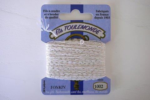 TONKIN刺繍糸#1002_Ecru フランス製