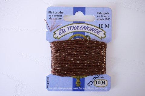 TONKIN刺繍糸#1004_Brown フランス製