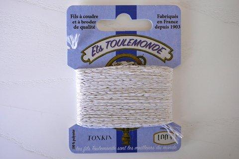 TONKIN刺繍糸#1003_White フランス製