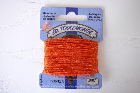 TONKIN刺繍糸#1007_Orange フランス製
