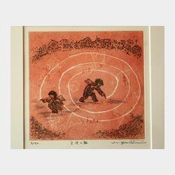 天使の輪 エッチング 21cm×22.5cm (縦×横)