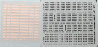 【N】TTL092-03 社番インレタ(関東バス5E・96MC用)