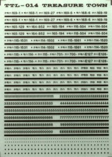 【N】TTL014E 車番標記(角ゴシック)/ライトグレー