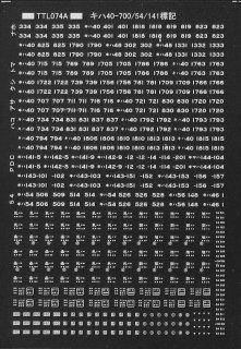 【N】TTL074A改2 キハ40-700標記(白文字)