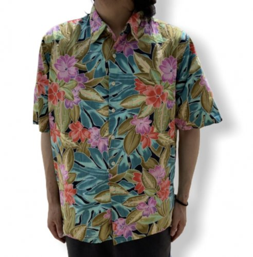 【古着/USED】Reyn Spooner S/S COTTON ALOHA Shirt  レインスプーナー アロハシャツ 半袖シャツ L