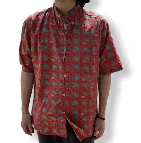 【古着/USED】Reyn Spooner S/S COTTON ALOHA Shirt  レインスプーナー アロハシャツ 半袖シャツ XL