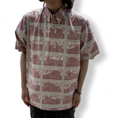 【古着/USED】Reyn Spooner S/S COTTON ×POLYESTER Pullover ALOHA Shirt  レインスプーナー アロハシャツ 半袖シャツ XL
