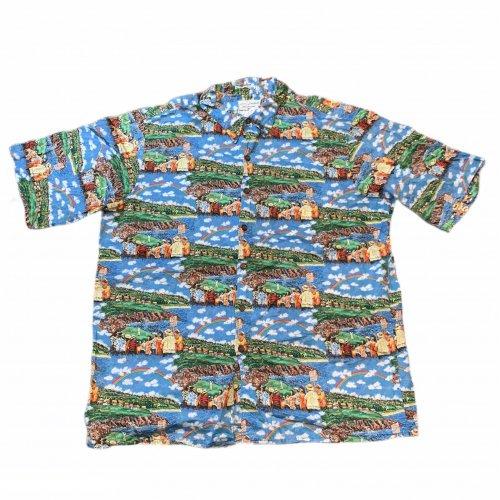 【古着/USED】Guy Buffet × REYN SPOONER S/S Pullover ALOHA Shirt  レインスプーナー アロハシャツ XL
