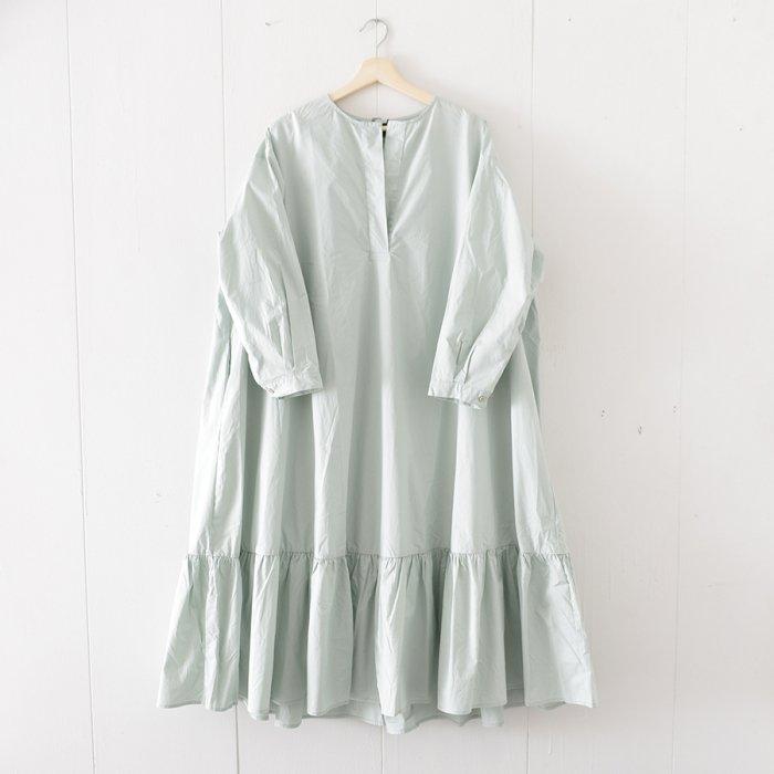 裾フリルマキシ丈シャツワンピース[20S/S SALE]